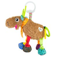 Lamaze Clip & Go Mortimer The Moose Infant Toy, Baby Car Seat Toy, Plush Stroller Toy