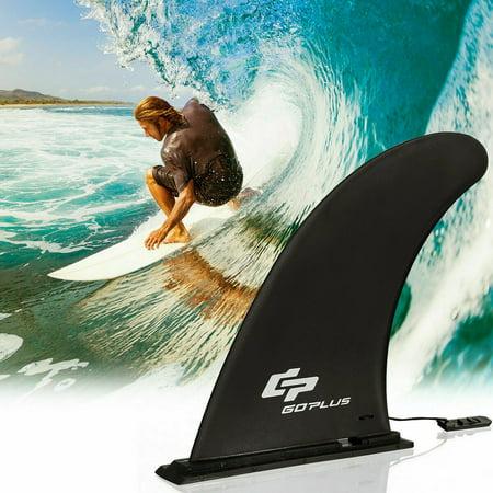 Board Fin (Goplus Surf & SUP Single Fin Detachable Center Fin for Longboard Surfboard Paddleboard)