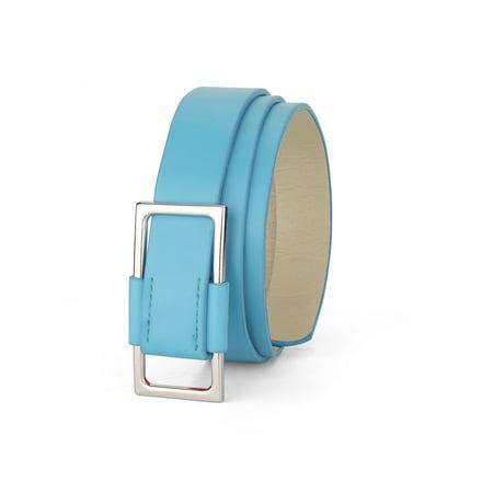Mesdames Rectangle Métal Glissement ceinture en faux cuir Ceinture Boucle - image 1 de 1