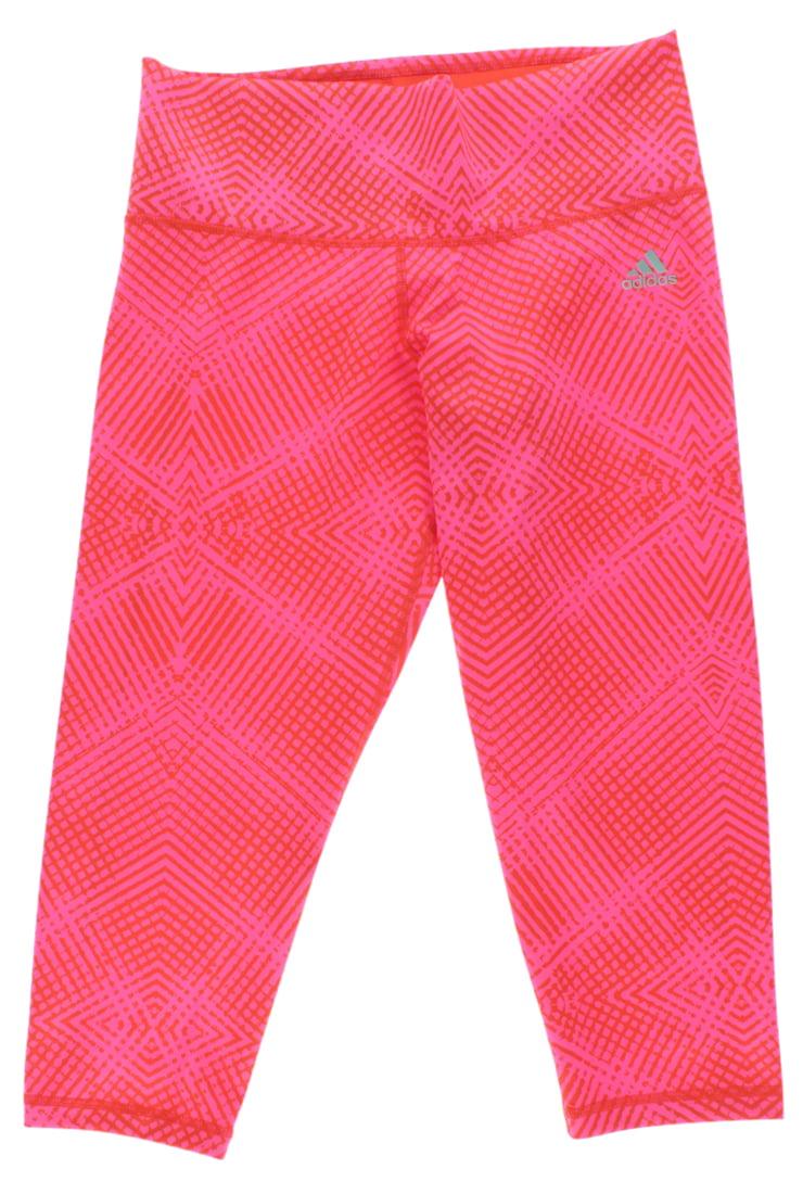 Adidas Womens Geo Grid Three Quarter Tights Bright Pink