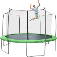 Pure Fun Dura-Bounce Trampoline, with Safety Enclosure, Green