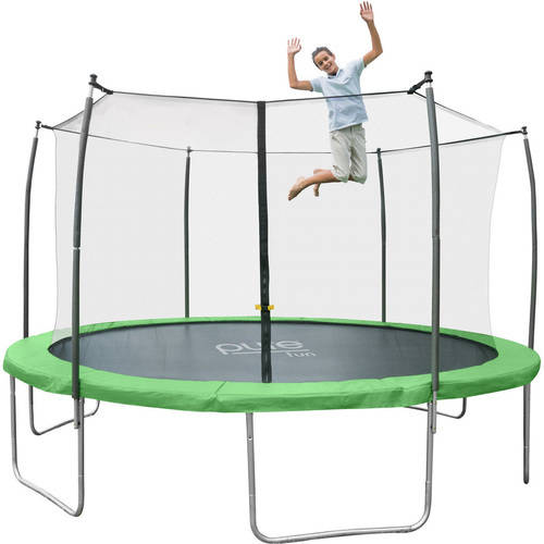 Pure Fun Dura-Bounce 12ft Trampoline with Enclosure