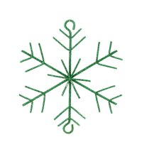 "5"" Emerald Green Glittered Christmas Build-a-Garland Snowflake"