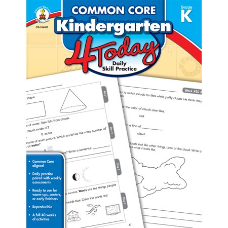 Common Core Kindergarten (Common Core Kindergarten 4 Today : Daily Skill)