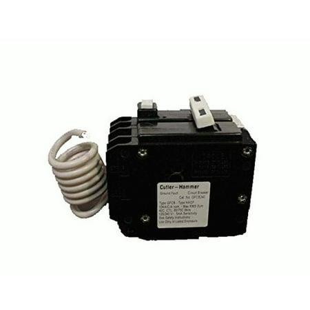 Eaton GFTCB250 Breaker, 50A, 2P, 120/240V, 10 kAIC, Type BR Ground (Ground Fault Breaker)