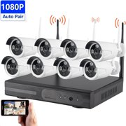 Solo 8CH 1080P HD WiFi Wireless Security Camera System Pro NVR Surveillance System Kit CCTV Security Camera System for Home IP66 Weatherproof Bullet & Dome Camera Night Vision 2TB