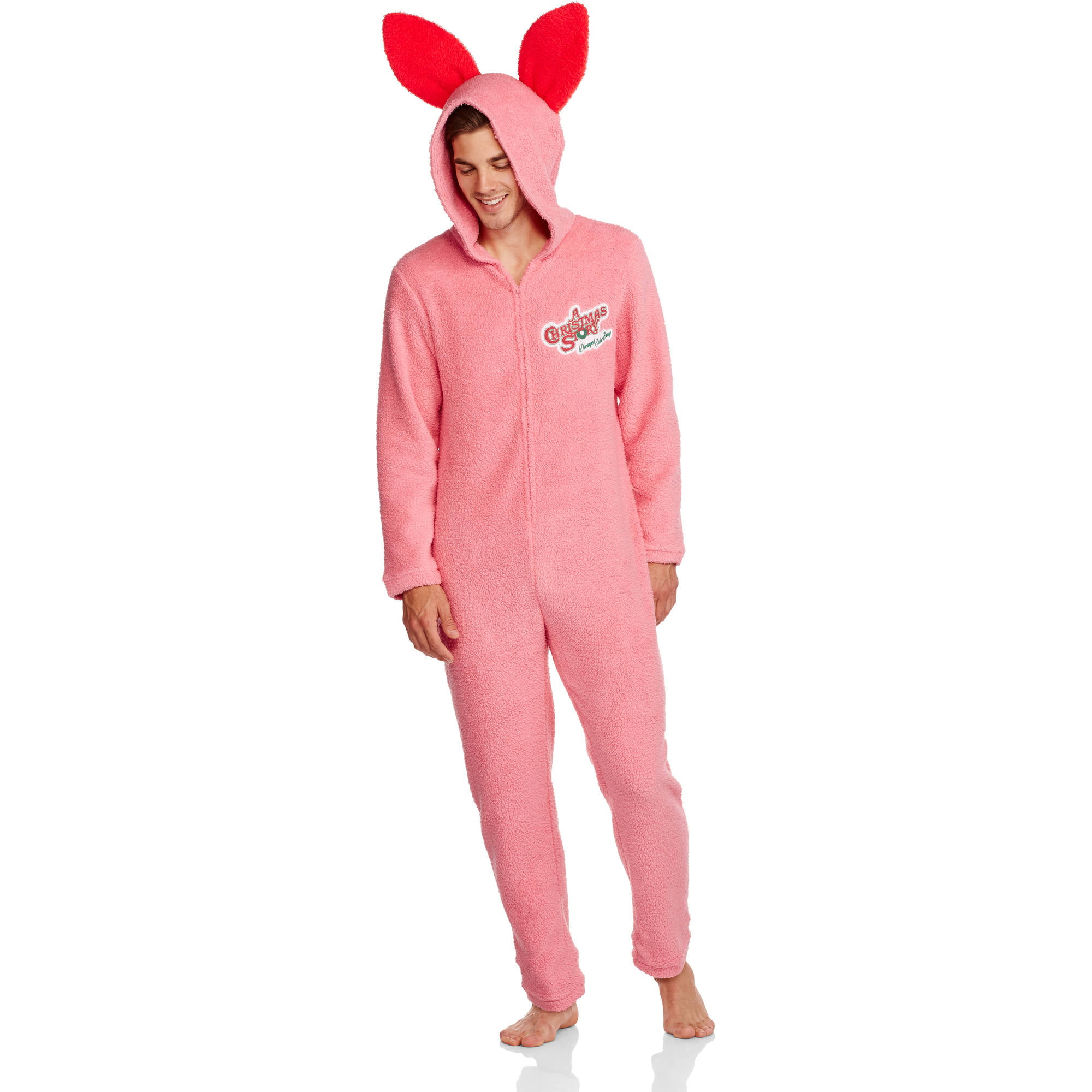 Men's Onesie Pink Bunny Union Suit - Walmart.com