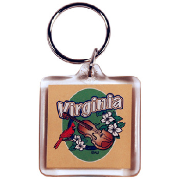 Ddi Virginia Keychain Lucite 3 View (pack Of 96)