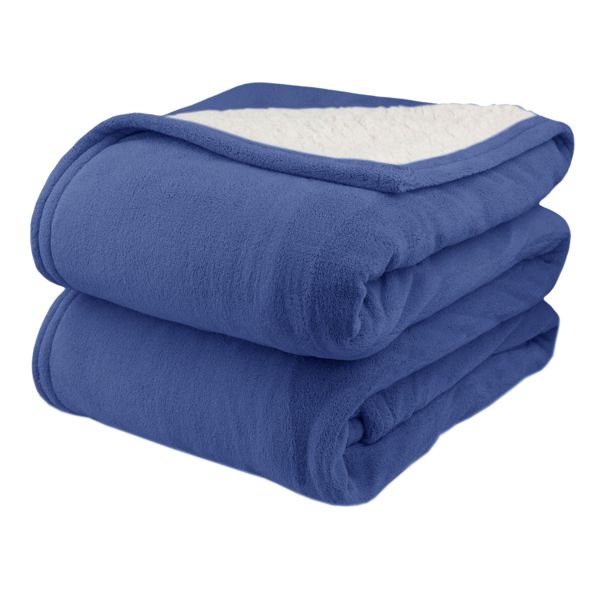 Pure Warmth MicroPlush Sherpa Electric Heated Warming Blanket