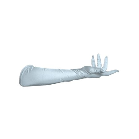 "Gravity Threads 23"" Inch Long Satin Opera Style Gloves"