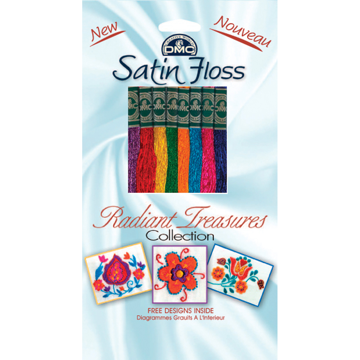 DMC Satin Floss Collection Pack 8/pkg, Radiant Treasures