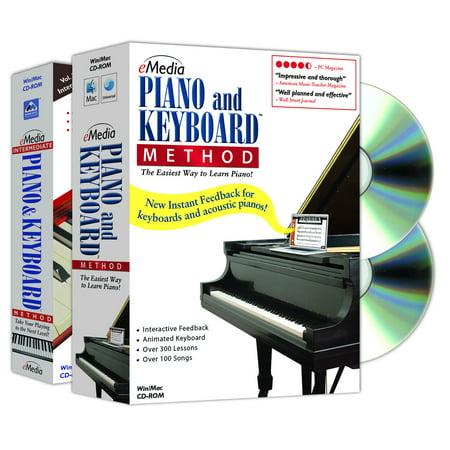 eMedia Music EK02131 Piano and Keyboard Method Deluxe 2-Volume (Baby Keyboard Software)