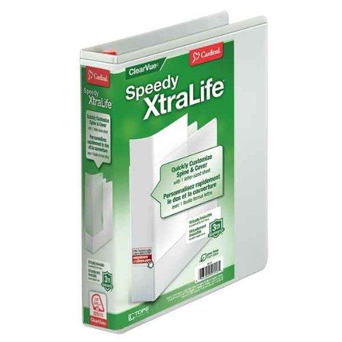 "Cardinal Speedy Xtralife Slant-d Ring Binder - Letter - 8.50"" X 11"" - D-ring Fastener - 2 Pockets - Polyolefin-covered Chipboard - Black - 1 Each (CRD59110)"