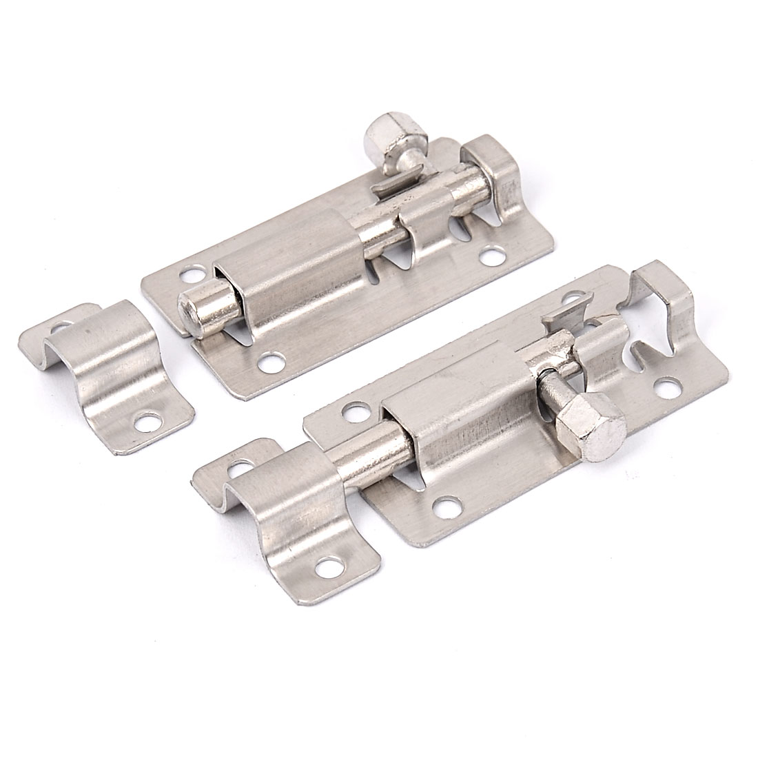 "Stainless Steel  Latch Slide Lock Door Window  Bolt 2"" Long 2pcs"