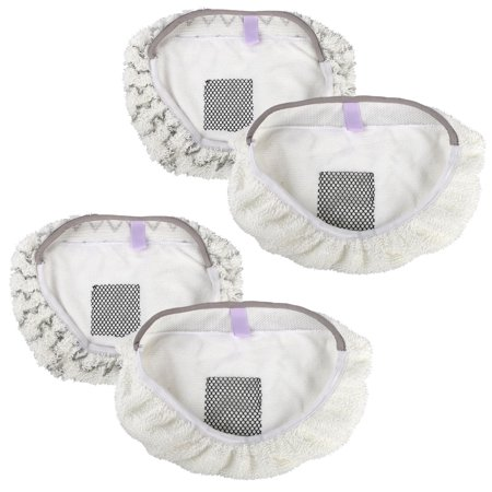 4-pack Replacement Washable Steam Mop Pads for Bissell Powerfresh 1940 1440 203-2633 series Steam Mop Cleaner ()