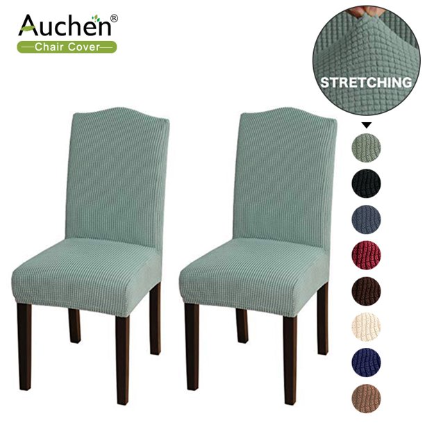 Auchen Chair Covers For Dining Room, Stretch Seat Covers For Dining Room Chairs