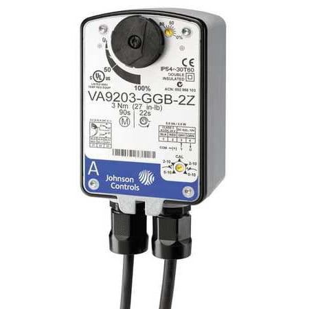 JOHNSON CONTROLS VA9203-BGA-2 Elec Act,27 In.-lb.,On-Off,24VAC