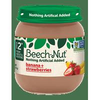 (10 Jars) Beech-Nut Baby Food Jar, Stage 2, Bananas & Stawberries, 4 oz