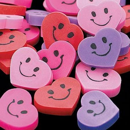 Face Erasers (Fun Express Mini Smile Face Erasers - 144 Pieces)