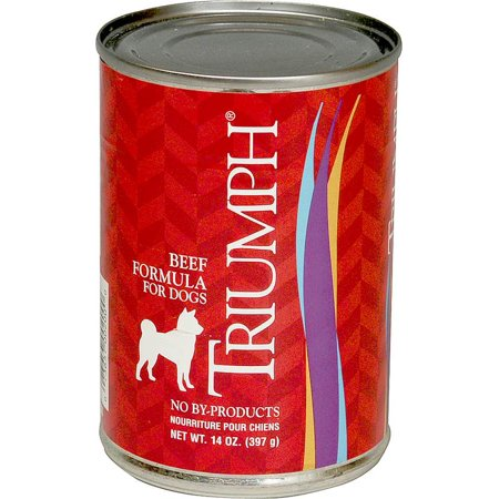 Sunshine Mills 6600200 Triumph Dog Food, Canned, Beef, 14 Oz