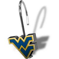 NCAA University of West Virginia Shower Hooks, 12 Piece