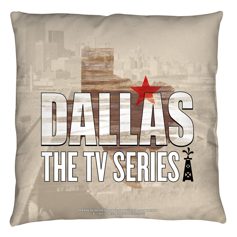 Dallas Logo Throw Pillow White 26X26