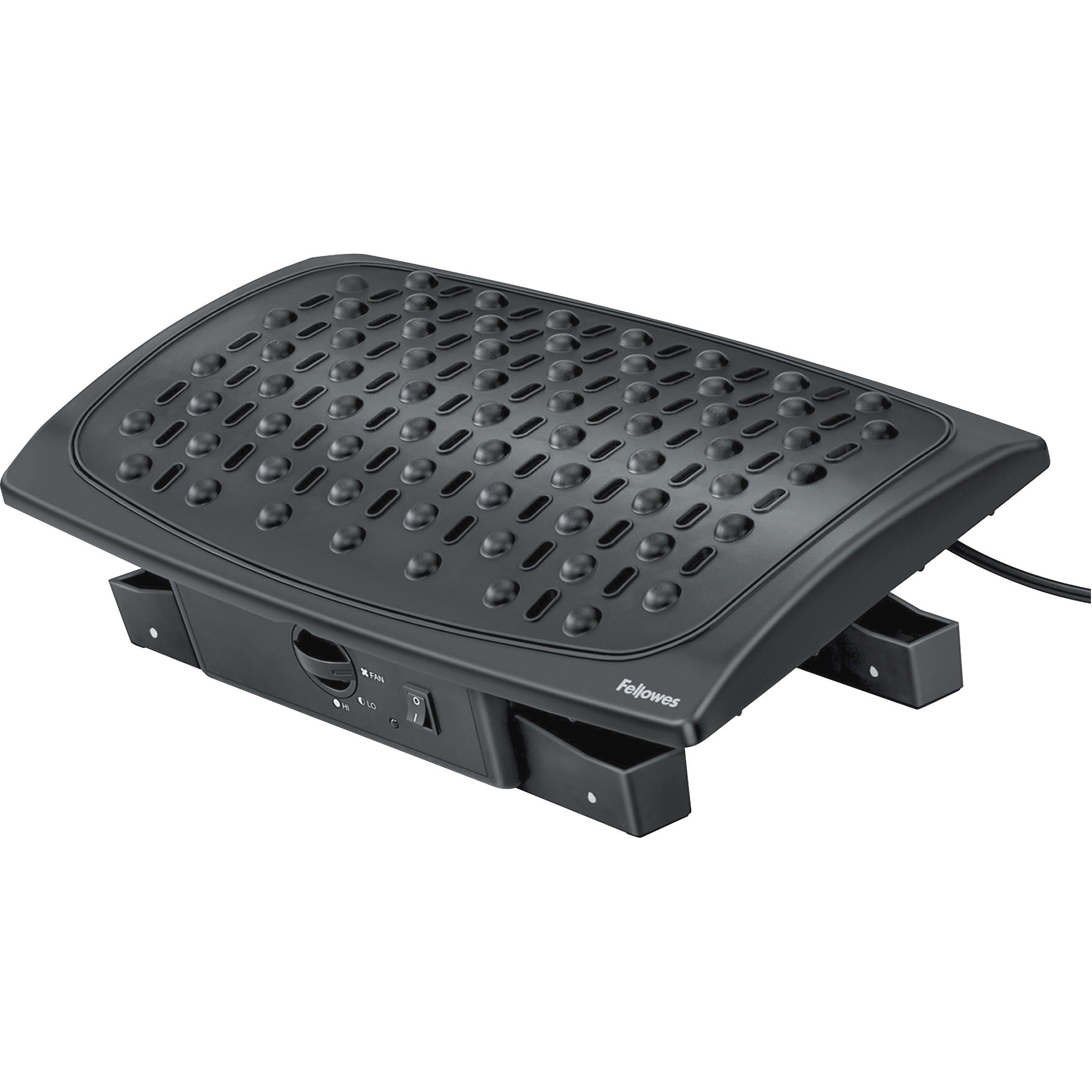 Fellowes, FEL8030901, Climate Control Footrest, 1 Each, Black