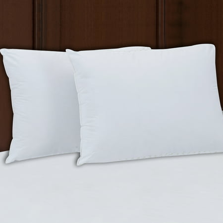 Mainstays 200TC Cotton Firm Support Pillow Set of 2 in Multiple (Best Back Support Pillow For Bed)