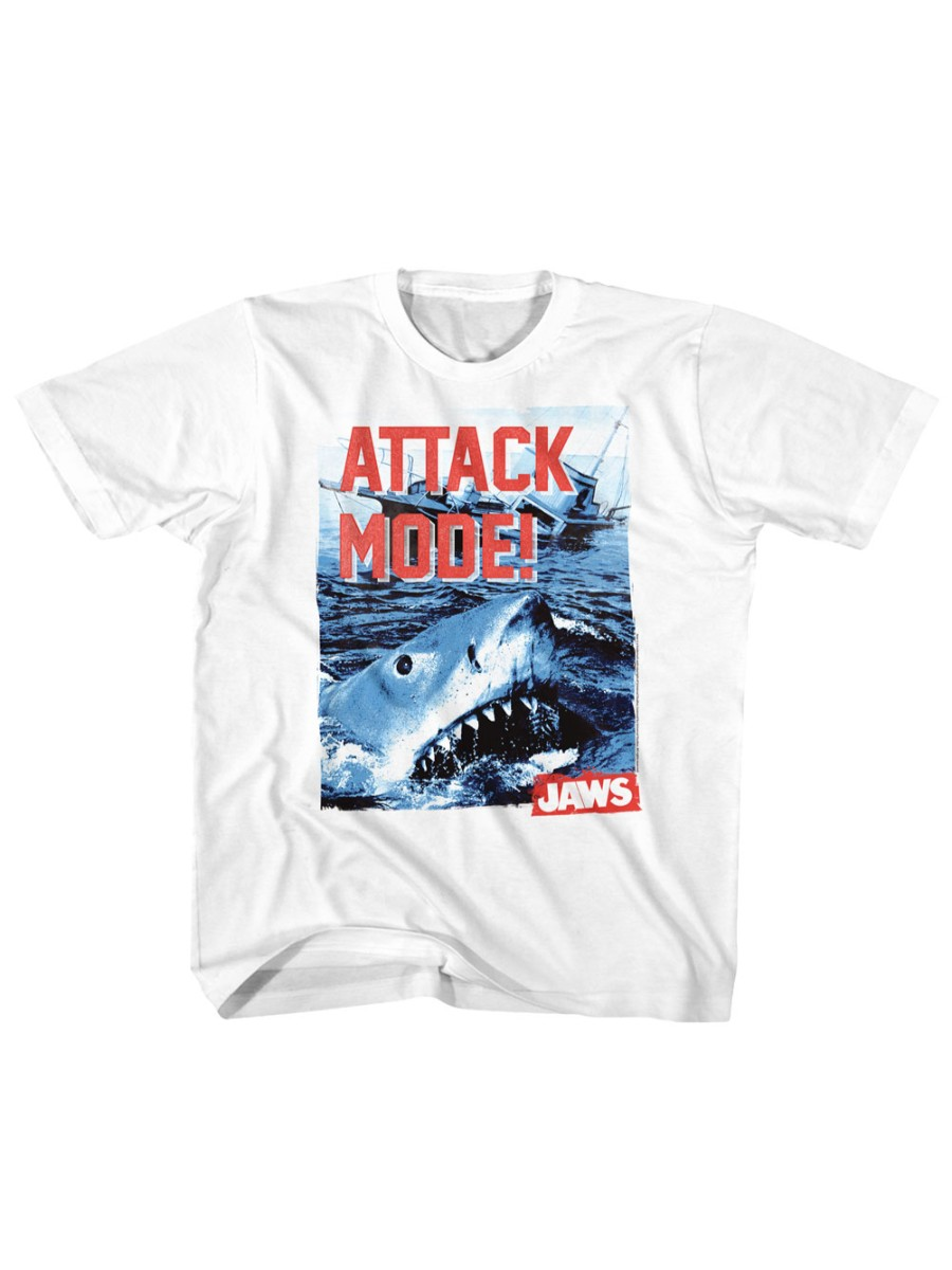 Jaws 1970s Shark Thriller Spielberg Attack Mode Shark Teeth Toddler T-Shirt Tee