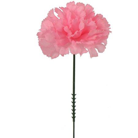 Pink Daylily - Larksilk 7 Inch Artificial  Silk Carnation, Pink, 100-Pack