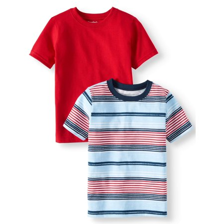 Garanimals Striped & Solid T-Shirts, 2pc Multi-Pack (Toddler Boys)
