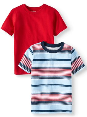 1c59a9e02ed5 Product Image Garanimals Striped & Solid T-Shirts, 2pc Multi-Pack (Toddler  Boys)