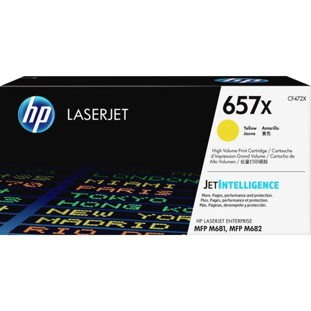 HP, HEWCF472X, 657X High Yield Yellow Original LaserJet Toner Cartridge (~23,000 Yield), 1 / Each