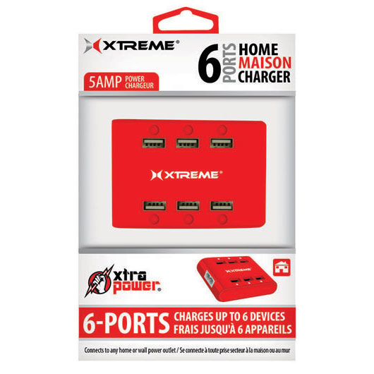Xtreme 81263 5 amp Power Charger(Red)