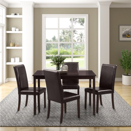 Harper&Bright Designs Dining Table and Upholstered Chairs 5-Piece Dining Set, Multiple