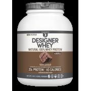 Designer Protein 100% Whey Protein Powder, Gourmet Chocolate, 20g Protein, 4lb, 64oz