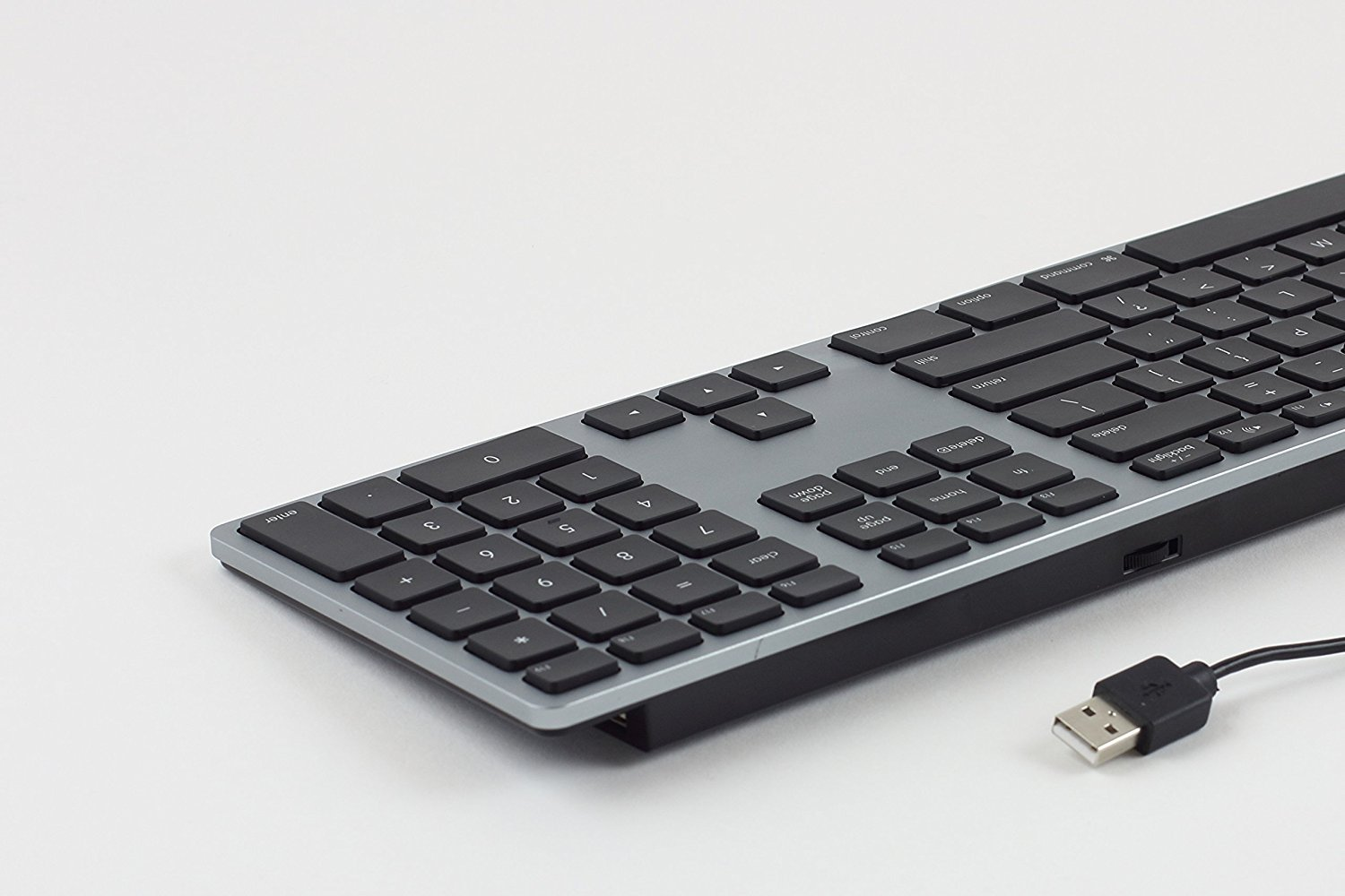 8d9fd262858 Matias RGB Backlit Tactical Wired Aluminum USB 2.0 Keyboard for Mac -  Adjustable Brightness and Rainbow Color Dial - Space Gray - Walmart.com