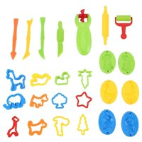 New Colorful ULTNICE Play Doh Kits 26pcs Smart Dough Tools Plasticine Tools for Children To Play Games