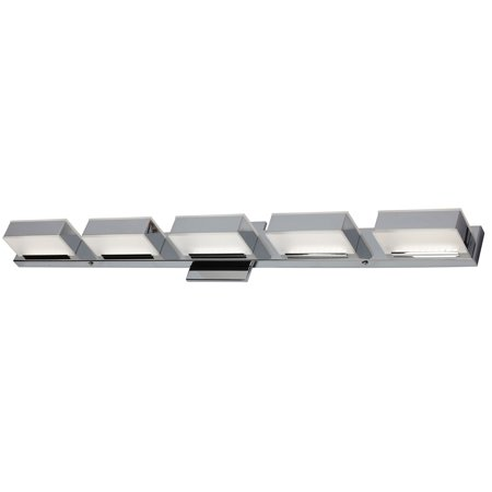 Dainolite 5 Light LED Wall Vanity, Polished Chrome