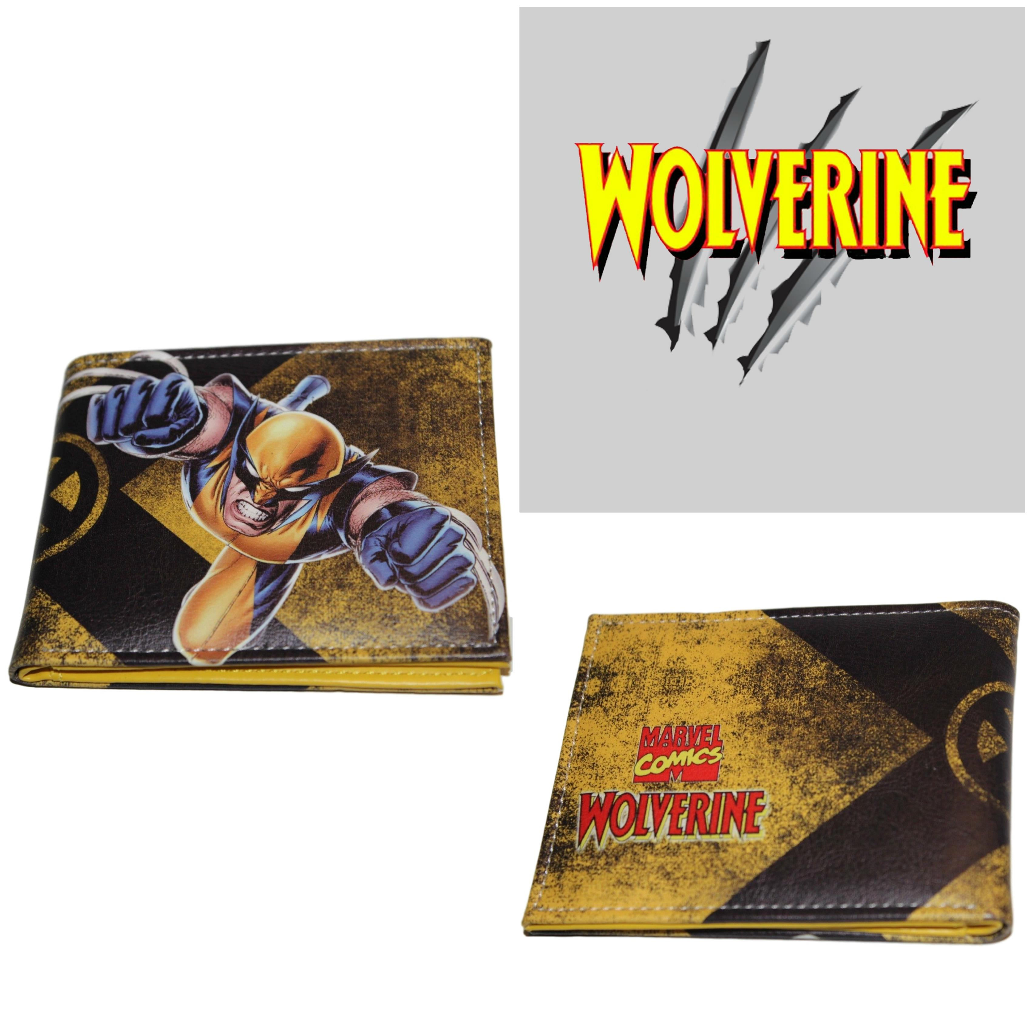 Superheroes Marvel Comics X-Men Wolverine X Logo Bi-fold Mens Boys Wallet with Gift Box