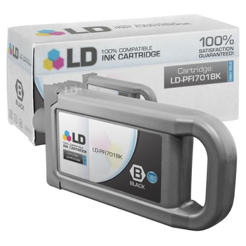 LD Compatible Replacement for Canon PFI-701BK HY Black Pigment Inkjet Cartridge for use in Canon imagePROGRAF iPF8000, iPF8000s, iPF9000, and iPF9000s