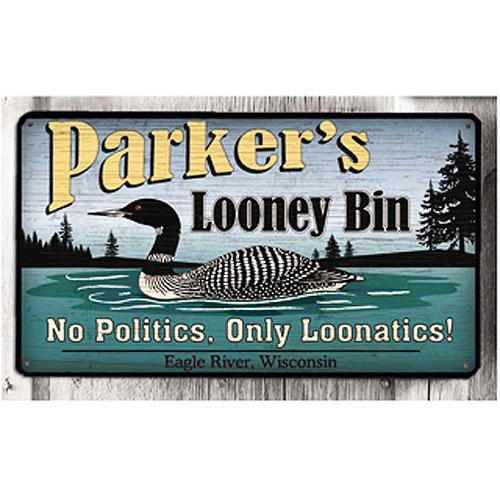 Personalized Metal Sign, Looney Bin