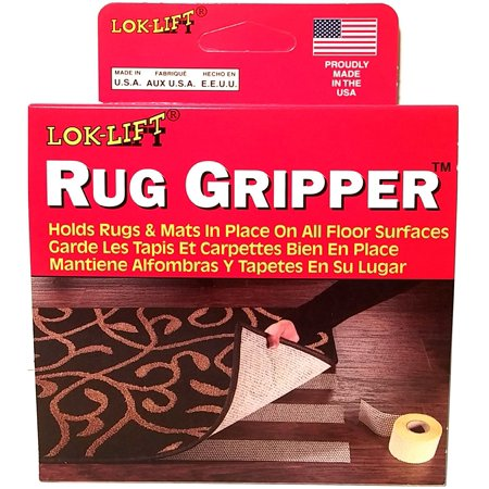 Optimum Technologies Lok Lift Rug Gripper Slip-Resistant Rug Tape for Rugs and Mats, 2.5-Inches by 25-Feet, Works on all floor surfaces including carpet, wood,.., By LokLift ()