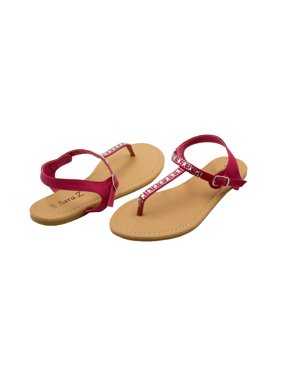 547d57dbde6fbd Product Image Sara Z Girls Vegan Thong Sandal With Rhinestone Detail