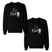 Sis Fist BFF Matching Sweatshirts Best Friend Gift for Holidays