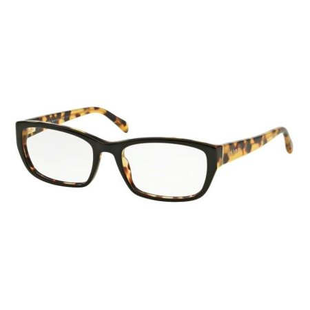 ef1233abc9 PRADA Eyeglasses PR 18OV NAI1O1 Top Black Medium Havana 54MM - Walmart.com