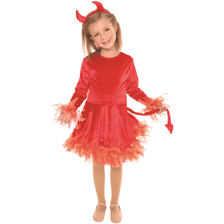 Devil Girl's Halloween Costume Size Small 4-6 (She Devil Halloween)