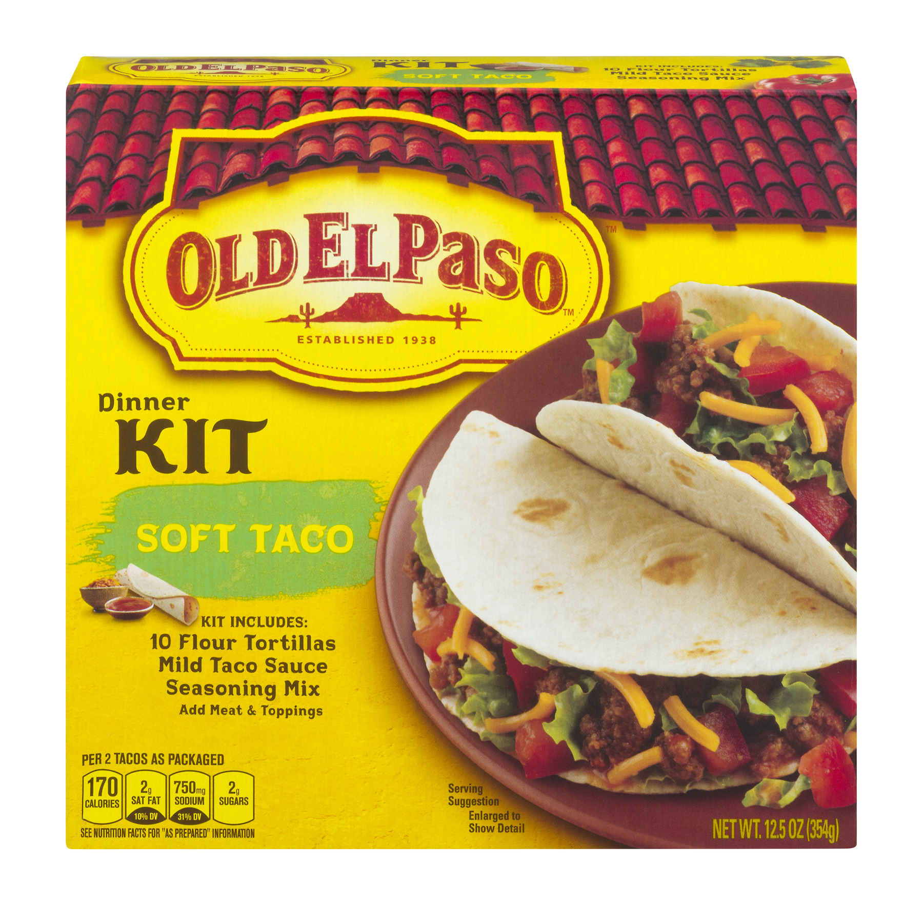 Old El Paso™ Soft Taco Dinner Kit 12.5 oz Box