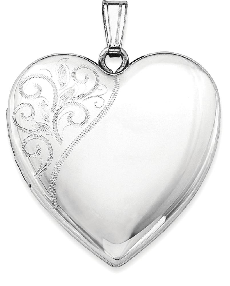 ICE CARATS ICE CARATS 925 Sterling Silver 24mm Swirl Heart Photo Pendant Charm Locket Chain Necklace That Holds Pictures... by IceCarats