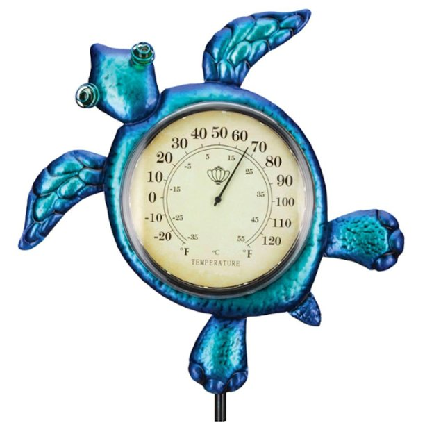Regal Art And Gift 12716 Blue Purple Sea Turtle Thermometer Garden Stake Walmart Com Walmart Com